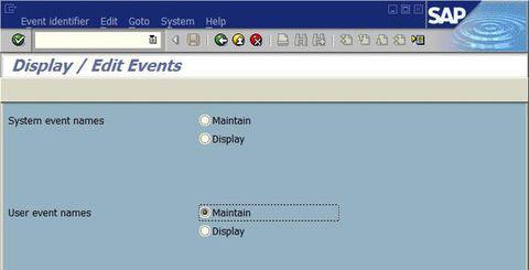 如何在SAP中定义Event类型的后台Job 图1