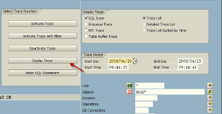 SAP 使用ST05跟踪方法! 图3