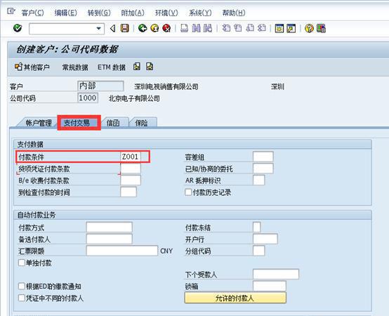 SAP中新建客户 图8