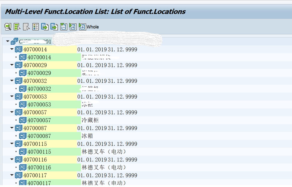 SAP PM入门系列23 - IL07 功能位置列表(多级)