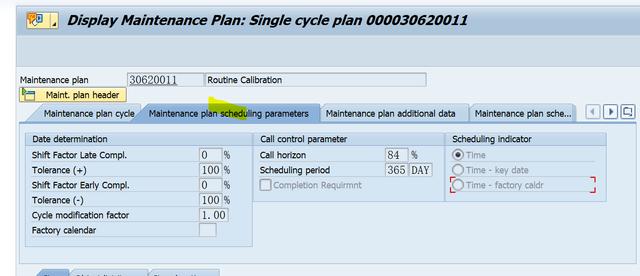 SAP PM 入门系列5-IP03 显示一个维护计划 图4