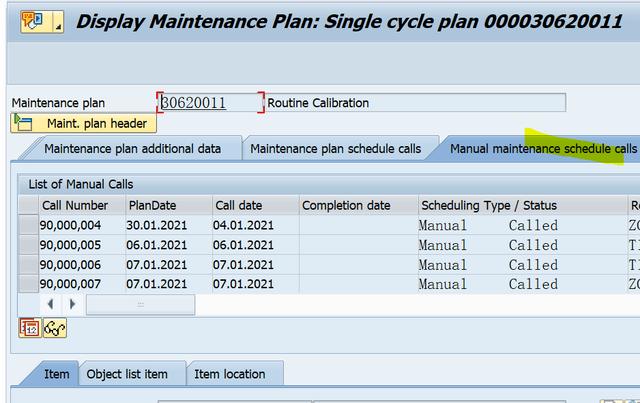 SAP PM 入门系列5-IP03 显示一个维护计划 图5