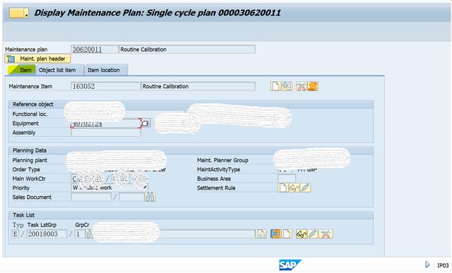 SAP PM 入门系列5-IP03 显示一个维护计划 图6