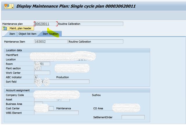 SAP PM 入门系列5-IP03 显示一个维护计划 图7