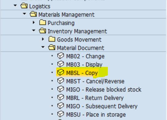 SAP MM 不常用事务代码之MBSL 图1