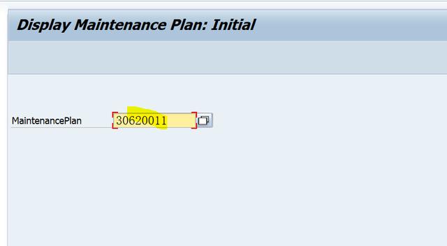 SAP PM 入门系列5-IP03 显示一个维护计划 图2
