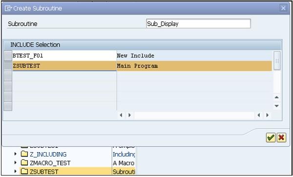 SAP ABAP 子程序 图2