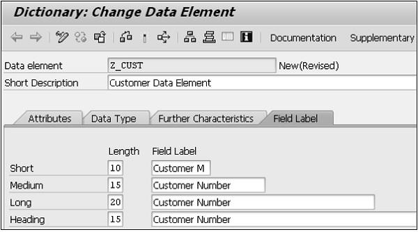 SAP ABAP 数据元素 图5