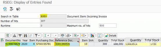SAP中物料凭证和采购发票的对应关系 图2