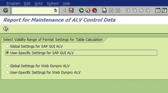 SAP表格导出功能以及如何删除恢复默认选定格式 图4