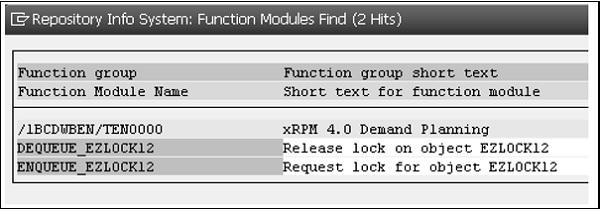 赛锐信息:SAP ABAP 锁定对象 图5