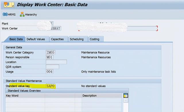 SAP PM 初级系列5 - 工作中心相关的配置 图12