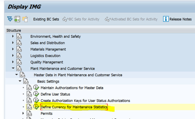 SAP PM 初级系列3 - 主数据相关的基础设置  图8