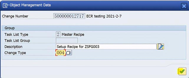 SAP PP C201使用ECR创建Recipe主数据 图4