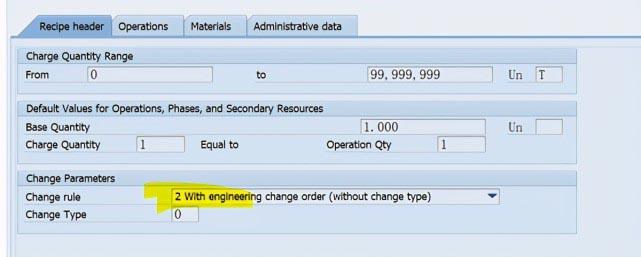 SAP PP C201使用ECR创建Recipe主数据 图6