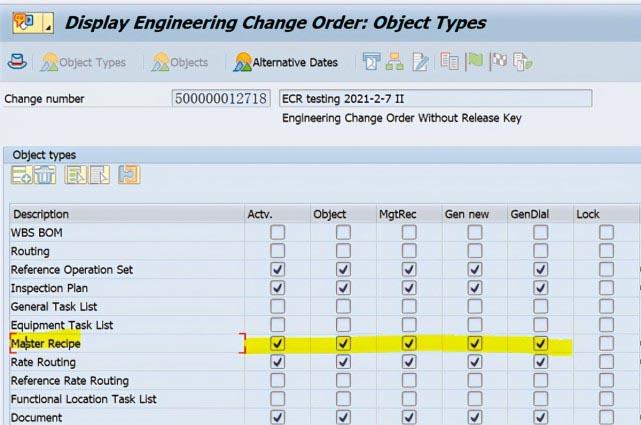 SAP PP使用ECR去修改Recipe主数据,报错:相关功能不支持 图3