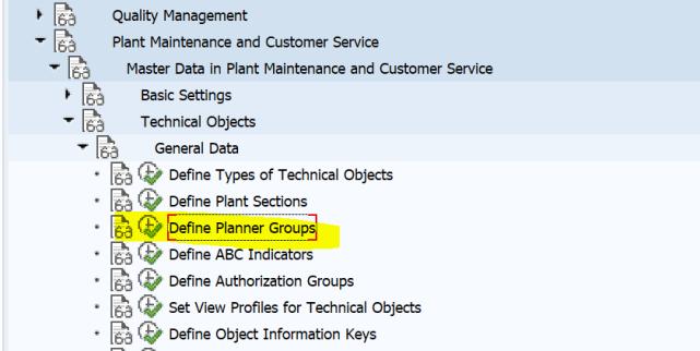 SAP PM 初级系列2 – 定义计划员组 图2
