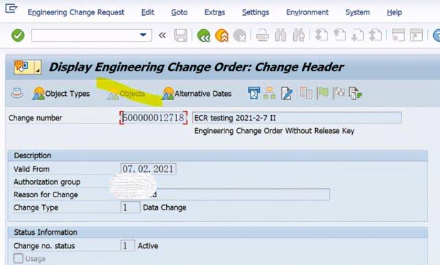 SAP PP使用ECR去修改Recipe主数据,报错:相关功能不支持 图4