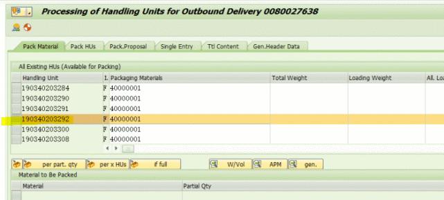 SAP不能修改一个已经分配给交货单的HU 图3