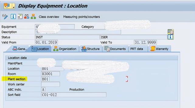 SAP PM 初级系列7 - 定义工厂区域 图5