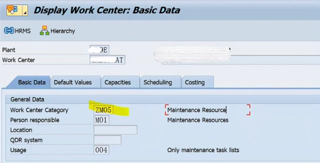 SAP PM 初级系列5 - 工作中心相关的配置 图8