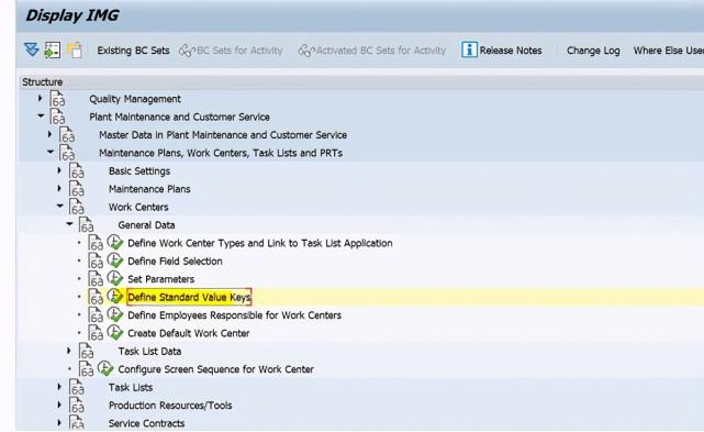SAP PM 初级系列5 - 工作中心相关的配置 图9