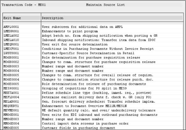 SAP ABAP 用户退出 图2