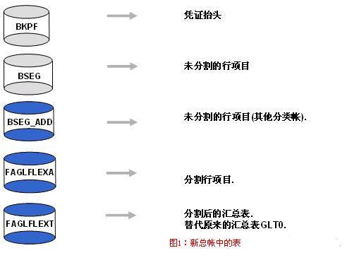 SAP License:新总账的表结构 图2