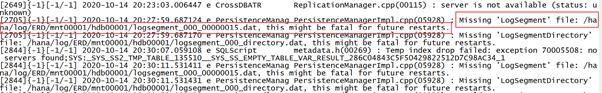 SAP License:HANA在线日志被误删了怎么办? 图12