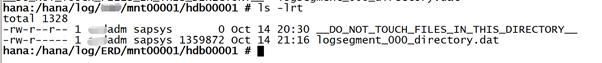SAP License:HANA在线日志被误删了怎么办? 图14